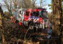 Brandweervoertuig zwaar beschadigd na ongeval