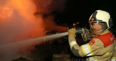 Buitenbrand als afscheid van actieve brandweerdienst