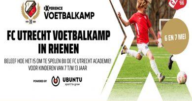 FC Utrecht Voetbalkamp bij SV Candia '66 in Rhenen
