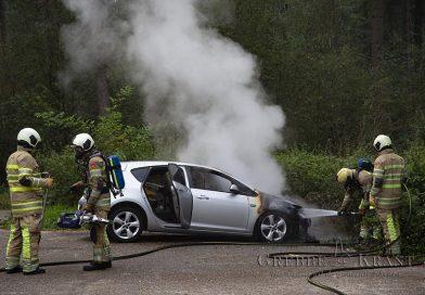 Autobrand op de Autoweg