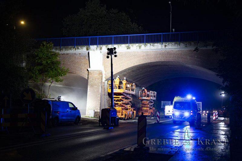 Werkzaamheden aan viaduct in volle gang