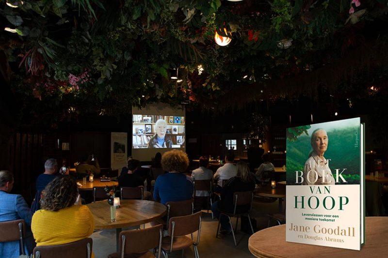 Exclusieve lancering van 'Het boek van hoop' van Jane Goodall in Ouwehands Dierenpark was groot succes!